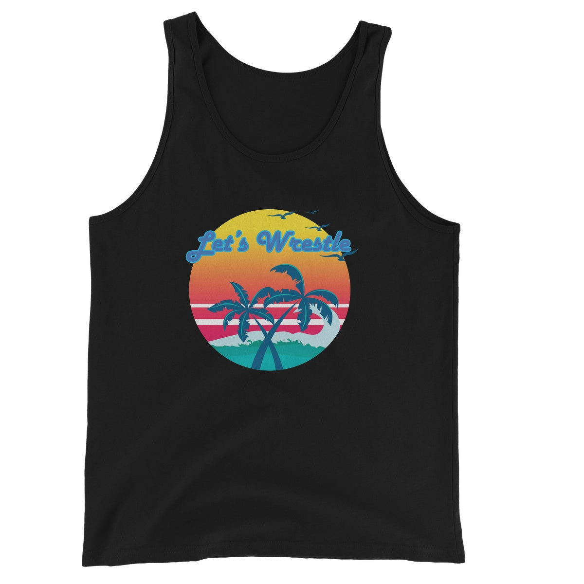 Let's Wrestle Tropical Heat Wave Unisex Jersey Tank Top
