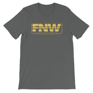 Fight! Nation Wrestling Gold Shade Logo Unisex Short Sleeve T-Shirt