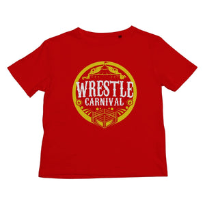 Wrestle Carnival Gold Logo Kids Retail T-Shirt