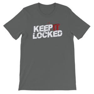 Simon Hill Keep It Locked Blood Logo Unisex Short Sleeve T-Shirt