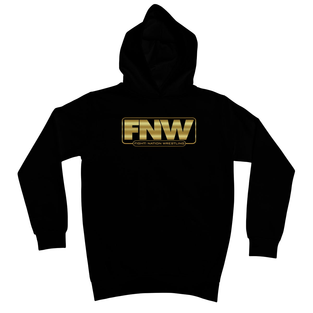 Fight! Nation Wrestling Gold Shade Logo Kids Hoodie