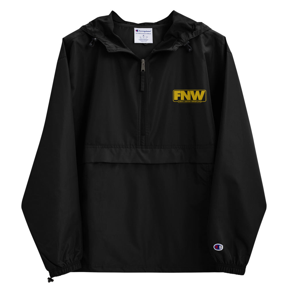 Fight! Nation Wrestling Gold Logo Embroidered Champion Packable Jacket