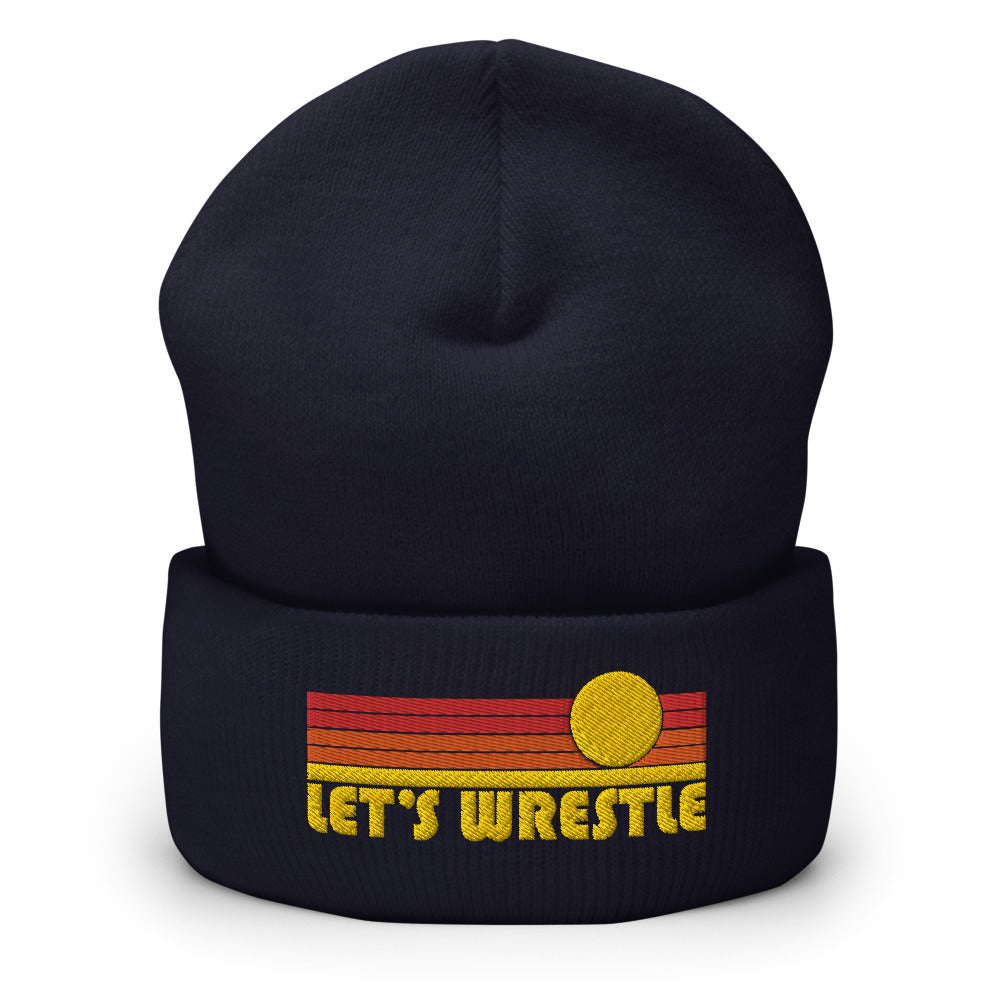 Let's Wrestle Sunrise Logo Cuffed Beanie