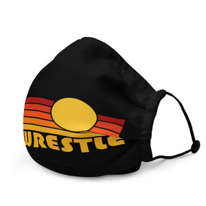 Let's Wrestle Sunrise Face Mask