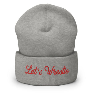 Let's Wrestle Write-off Cuffed Beanie