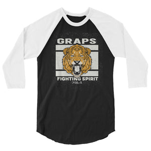 GRAPS X Gaijin - Fighting 3/4 sleeve raglan shirt