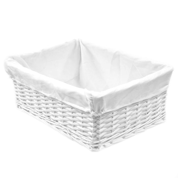 zohula white wicker storage basket for flip flops