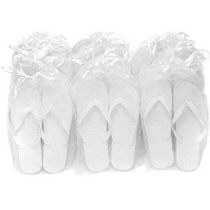 white flip flops luxury party pack