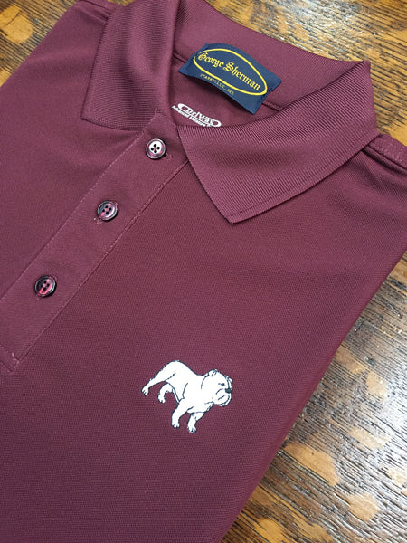 Bulldog s/s performance knit maroon
