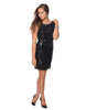 Black Stars Dance Black Sequin Dress