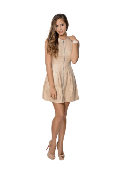 Sleveless Zip Up Skater Dress