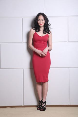 Essential Red Bodycon Dress
