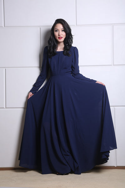 Royal Blue Long Dress