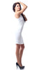 White Social Night Out Lace Up Dress