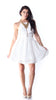 White 2 layer Summer Dress