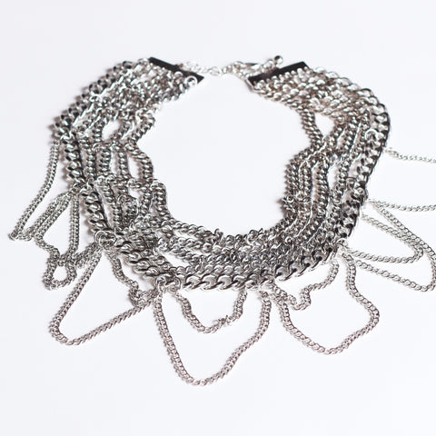 Accentuate any high collar necklace