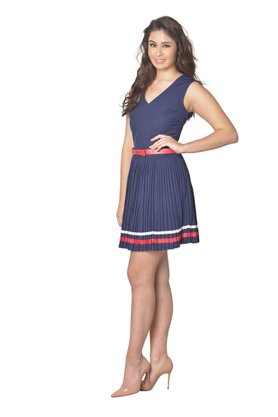 Pleated School Girl Dress