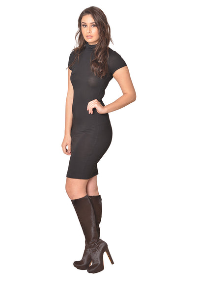 Basic Black Bodycon Dress