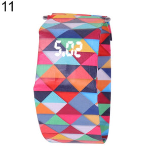 2019 Creative Waterproof Unisex Students LED Light Digital Display Paper Watch Gift