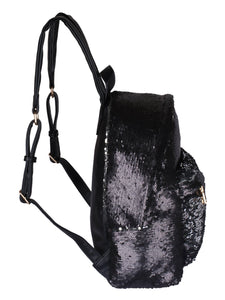 Sequinned Backpack-Black