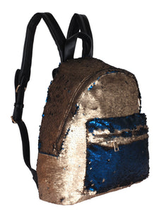 Sequinned Backpack-Gold