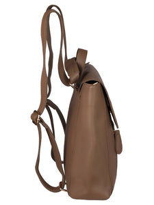 Minimalistic Backpack-Dark Brown