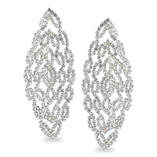 Load image into Gallery viewer, GLITTERING STUDDED LACE DESIGN PARTY EARRINGS