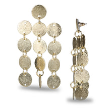 Load image into Gallery viewer, GOLD DISCS METALLIC EARRING