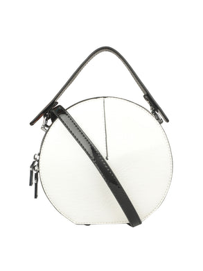 FANCY CIRCULAR WHITE SLING BAG