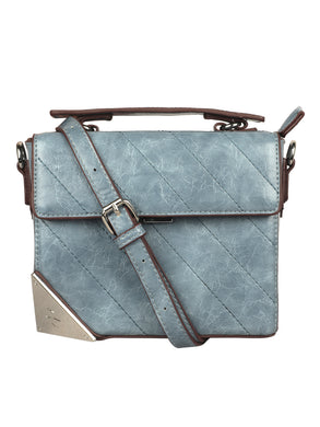 SKY BLUE BOX SLING BAG