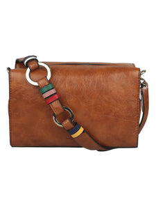 BROWN TAN SLING BAG