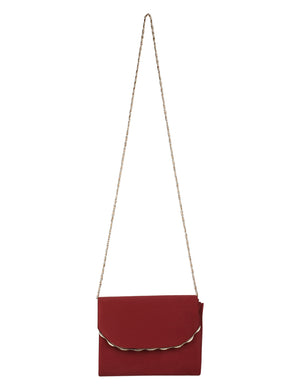 WINE WOMENS CLUTCH SLING BAG