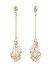 Load image into Gallery viewer, Gold Diamond Dangler Earrings