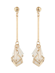 Gold Diamond Dangler Earrings