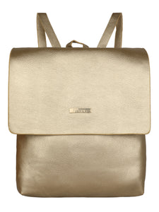 GOLD WOMENS BACKPACK WITH FLAP
