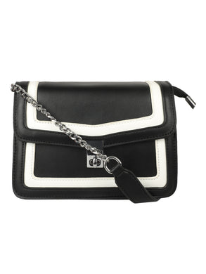A SMART CAUSAL BLACK SLING BAG