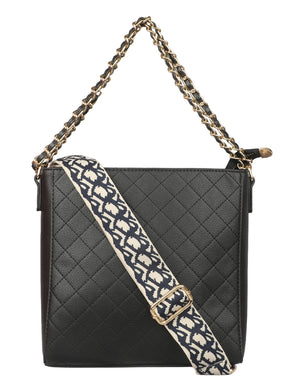DESIGNER STRAP SQUARE BAG