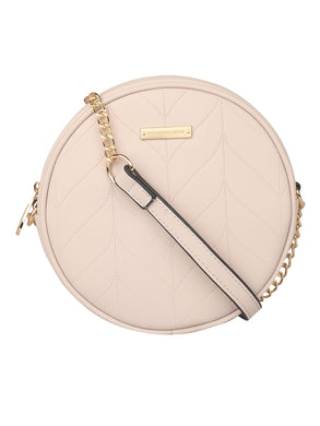 SUPER EXOTIC CIRCULAR BEIGE SLING BAG