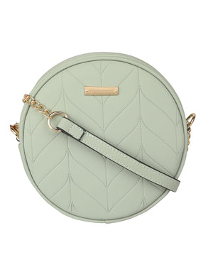 SUPER EXOTIC CIRCULAR OLIVE GREEN SLING BAG