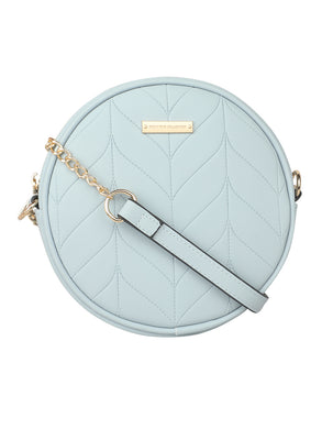 SUPER EXOTIC CIRCULAR SKY BLUE SLING BAG