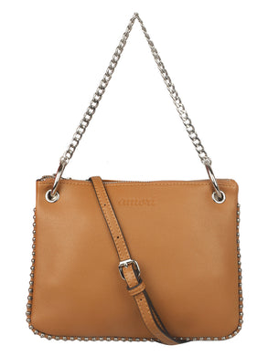 SHORT CHAINED BRONZE BROWN BAG