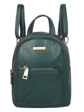 SUPER SLEEK PINE GREEN CAUSAL BACKPACK