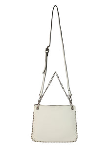 SHORT CHAINED WHITE SLING BAG