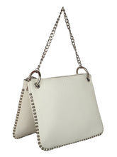 Load image into Gallery viewer, SHORT CHAINED WHITE SLING BAG