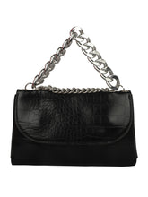 Load image into Gallery viewer, CHIC TINY BLACK SLING BAG WITH METAL CHAIN HANDLE