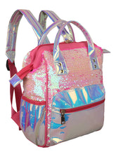 Load image into Gallery viewer, EYE-CATCHY HOLOGRAM PINK BACKPACK