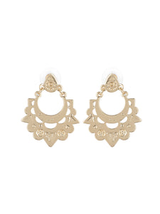 Golden Plated Alloy Earrings