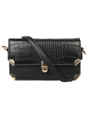 TRENDY BLACK SLING BAG