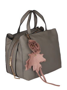 Flower Detail Handbag-Grey
