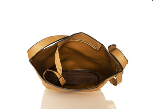 Slick Bucket Handbag - Brown